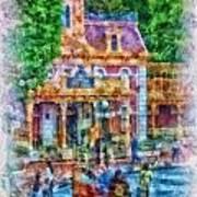 Fire Truck Main Street Disneyland Photo Art 01 Poster