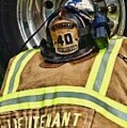 Fireman Turnout Gear Lieutenant Poster