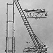Fireman's Hydraulic Lift Patent Drawing Poster