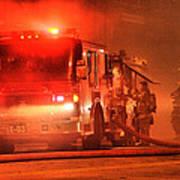 Firemen At Work Poster