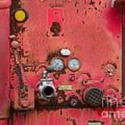 Firetruck Red Poster