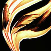 Firewater 2 - Buy Orange Fire Art Prints Poster