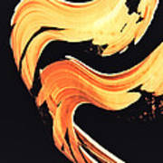 Firewater 5 - Abstract Art By Sharon Cummings Poster