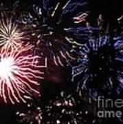 Firework - Saint Denis - Ile De La Reunion - Reunin Island - Indian Ocean Poster by Francoise Leandre