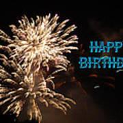 Fireworks Birthday Poster