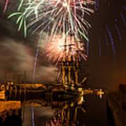 Fireworks Exploding Over Salem's Friendship Poster
