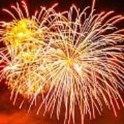 Fireworks Flower Poster by Robert Hebert
