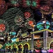 Fireworks Over Atlantic City Poster