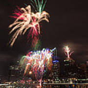 fireworks over Brisbane Poster