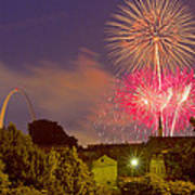 Fireworks Over St Louis Poster