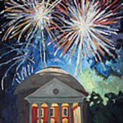 Fireworks Over The Rotunda Poster