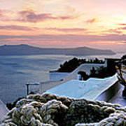 Santorini Sunset Poster