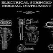 First Electric Guitar 2 Patent Art  1937 Poster