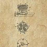 First Electric Motor 3 Patent Art 1837 Poster
