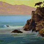 First Light At Point Lobos Poster