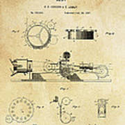 First True Motion Picture Projector Patent  1897 Poster