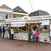 Fish Stall In The Market In Steenwijk Netherlands Poster