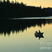 Fisherman At Dusk Poster by Nancy Harrison