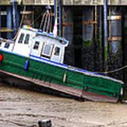 Fisherman Boat Poster