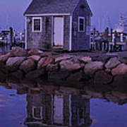 Fisherman's Shack Evening Poster