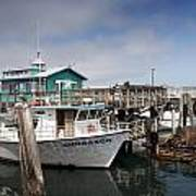 Fishermans Wharf In Monterey Poster