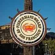 Fisherman's Wharf Sign Poster