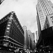 Fisheye View Of The Herald Square Building And Cross Walks Over Broadway New York Poster