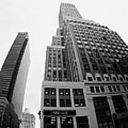 fisheye view of the Nelson Tower and 1 penn plaza in the background from junction of 34th street and Poster