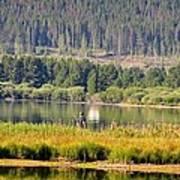 Fishing At George Town Lake Poster