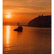 Sunset At Dash Point Poster