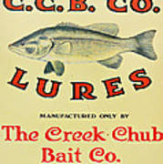 Fishing Bait Advertising Sign Poster