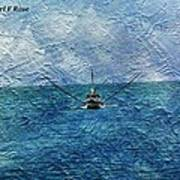 Fishing Boat As A Painting 2 Poster