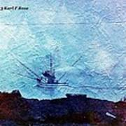 Fishing Boat As A Painting Poster