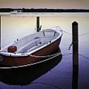 Fishing Boat At Dawn Poster