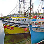 Fishing Boat Reflection In Branch-newfoundland-canada Poster