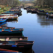 Fishing Boat Row Poster