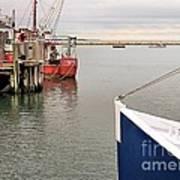 Fishing Boats At Pier Poster