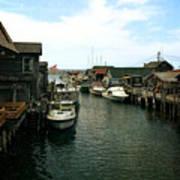 Fishing Boats In Fishtown Poster