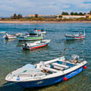 Fishing Boats Poster by Luis Alvarenga