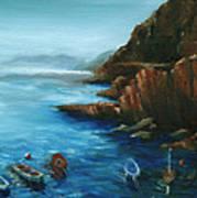 Fishing Boats Of Rio Maggiore Poster