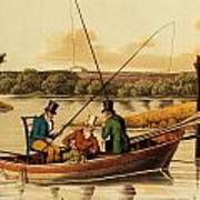 Fishing In A Punt Poster