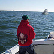 Fishing In Rough Seas Poster
