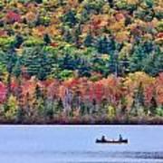 Fishing In The Fall Colors On Lake Chocorua Poster