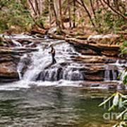 Fishing Mill Creek Falls In West Virginia Poster