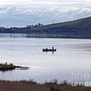 Fishing On Loch Leven Poster