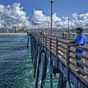 Fishing On Oceanside Pier Poster
