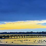 Fishing Pier At Sunset Poster
