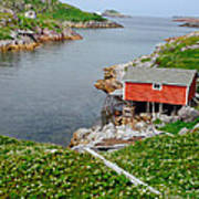 Fishing Stage Little Fogo Island Newfoundland Poster