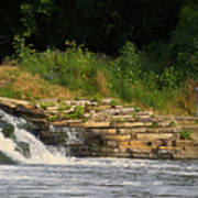 Fishing The Spillway Poster