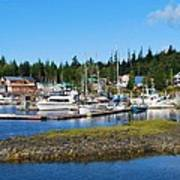 Fishing Village Alaska Poster
